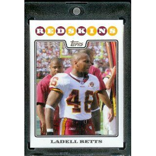 2008 Topps # 107 Ladell Betts   Washington Redskins   NFL