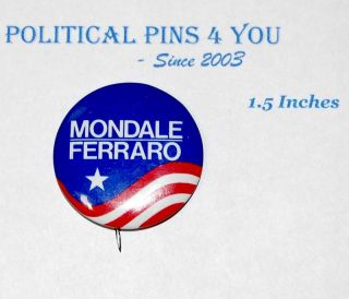 Walter Mondale Pin Pinback Badge Button Campaign 1984
