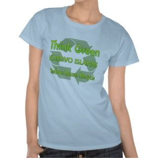 Think Green Kosovo Islands T shirts