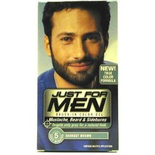 Just for Men Mustache Beard # 105 Darkest Brown Color Gel