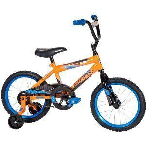 Huffy 16 Boys Pro Thunder Bike Orange New Training Wheels Complete