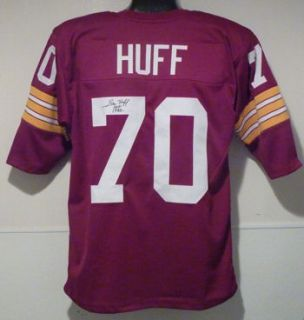 Sam Huff Autographed Signed Washington Redskins Red Poly Jersey w HOF
