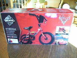 HUFFY 12 DISNEY CARS II BICYCLE WITH TRAINING WHEELS ACCESSORIES BRAND