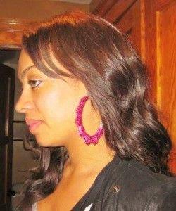 Basketball Wives Inspired Block Bamboo Earring Alicia Keys