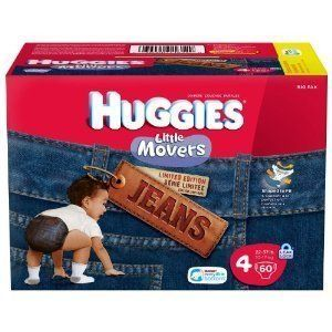 Huggies Little Movers Diapers Jeans Size 4 25 Ct