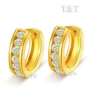 14k Gold GF Huggie Hoop Earrings EH23