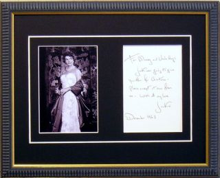 Jackie Jacqueline Kennedy Signed Note Reprint Framed
