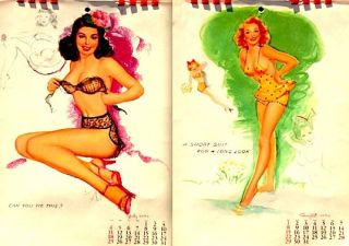 Marilyn Monroe Calendar Thompson Pinup 1954 12PGS w Envelope Golden