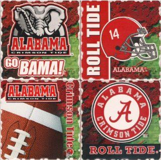 Alabama Crimson Tide   NCAA 4 Pack Square Ceramic Coasters