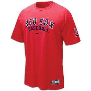 Nike Practice T Shirt 11   Mens   Baseball   Fan Gear   Red Sox   Red