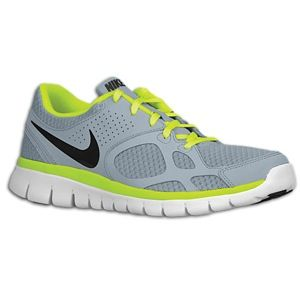 Nike Flex Run   Mens   Running   Shoes   Wolf Grey/Volt/Summit White