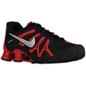 Nike Shox Turbo+ 13   Mens   Running   Shoes   Black/Gym Red