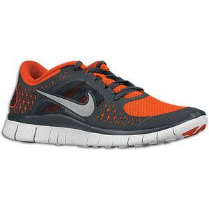 Nike Free Run + 3   Mens   Running   Shoes   Team Orange/Anthracite