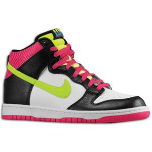 Nike Dunk High   Mens   Basketball   Shoes   White/Volt/Black