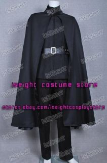for Vendetta Hugo Weaving V Black Costume Jacket Coat Cape Suit High