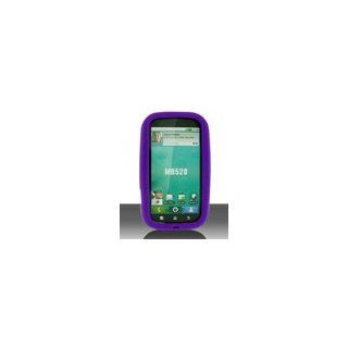 Motorola DEFY MB525 Cell Phone Purple Silicone Case