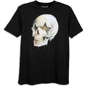 Hurley Star Skull S/S T Shirt   Mens   Casual   Clothing   Black