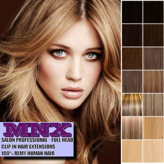 Deluxe Clip in Remy Human Hair Extensions Full Head Double Wefted Any