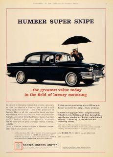 1964 Ad Humbler Super Snipe Black British Automobile UK   ORIGINAL