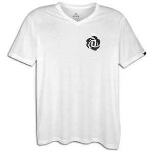 adidas Rose V Neck T Shirt   Mens   Basketball   Clothing   White