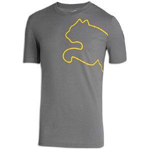 PUMA New Cat S/S T Shirt   Mens   Casual   Clothing   Castle /Lemon