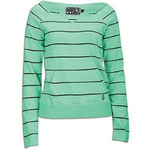 Volcom Moclov Crew   Womens   Casual   Clothing   Seafoam Green