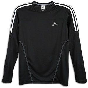 adidas Response Drei Streifen Crew Neck T Shirt   Mens   Black/White