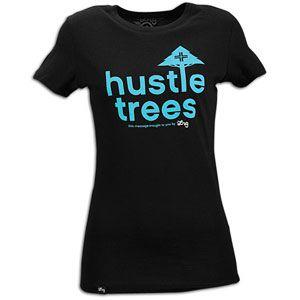 LRG Hustle Trees S/S T Shirt   Womens   Skate   Clothing   Black