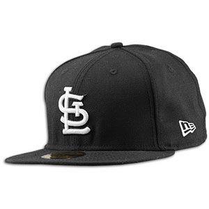 New Era MLB 59Fifty Black & White Basic Cap   Mens   Baseball   Fan