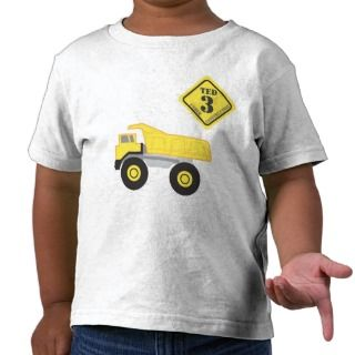 Birthday Shirt   Dump Truck Construction