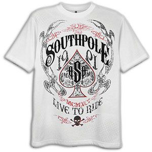 Southpole Live To Ride Scrn & Flck Print T Shirt   Mens   Casual