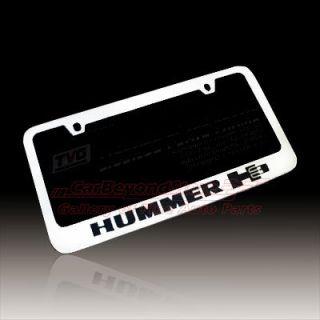 Hummer H3 Chrome Metal License Plate Frame Lifetime Warranty Free Gift
