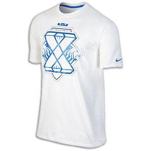 Nike Lebron X T Shirt   Mens   Basketball   Clothing   White/Light