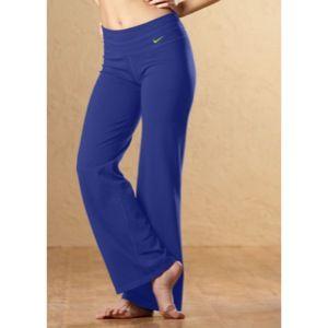 Nike Regular Dri Fit Cotton Pant   Womens   Night Blue/Atomic Green