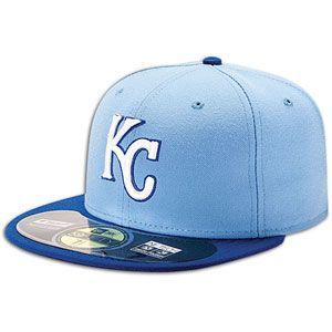 New Era 59FIFTY MLB Authentic Cap   Mens   Kansas City Royals   Light