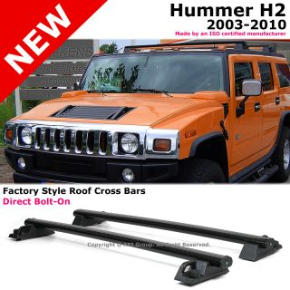 Hummer H2 03 10 Black Top Roof Rack Cross Bars Luggage Carrier