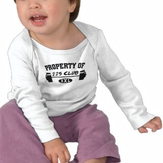 Property Of 225 Club XXL Infant Long Sleeve T Tee Shirt