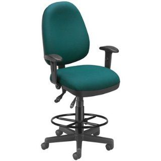 Teal Computer Drafting Chair and Stool 122 802 DK