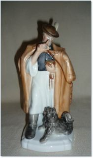 Fine Herend Porcelain Figure Hungarian Man and Dog