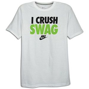 Nike Graphic T Shirt   Mens   Casual   Clothing   White/Black/Green