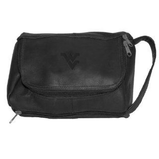 NCAA West Virginia Mountaineers Black Leather Deluxe Shave