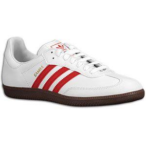 adidas Originals Samba   Mens   Soccer   Shoes   White/Light Scarlet