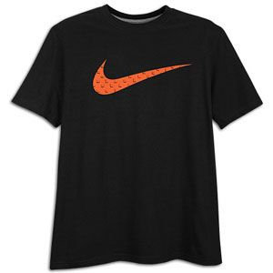 Nike Swoosh Filled S/S T Shirt   Mens   Casual   Clothing   Black