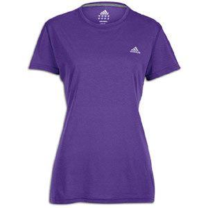 adidas Ultimate Workout T Shirt   Womens   Power Purple/Reflective