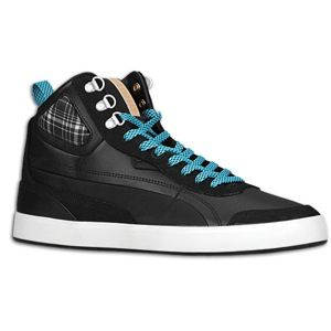 PUMA Suburb Mid Winter   Mens   Basketball   Shoes   Black/White