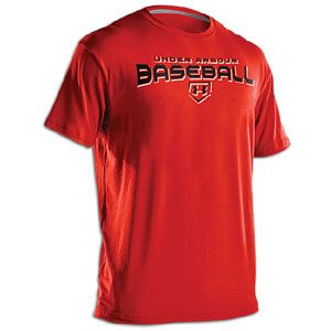 Under Armour Dugout T Shirt   Mens   Baseball   Clothing   Red/Black