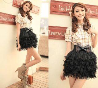 H5970 New Girls Full Tutu Tulle Tier Women 5 Layer Mini Cake Skirt