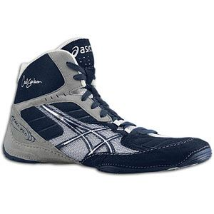 ASICS® Cael V5.0   Mens   Wrestling   Shoes   Navy/Silver/White