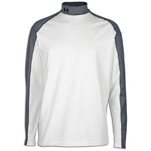 Under Armour Coldgear Competition Fitted Mock   Mens   White/Graphite