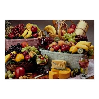 Fruit baskets, mixed fruit and cheeses. A Great gift filled with